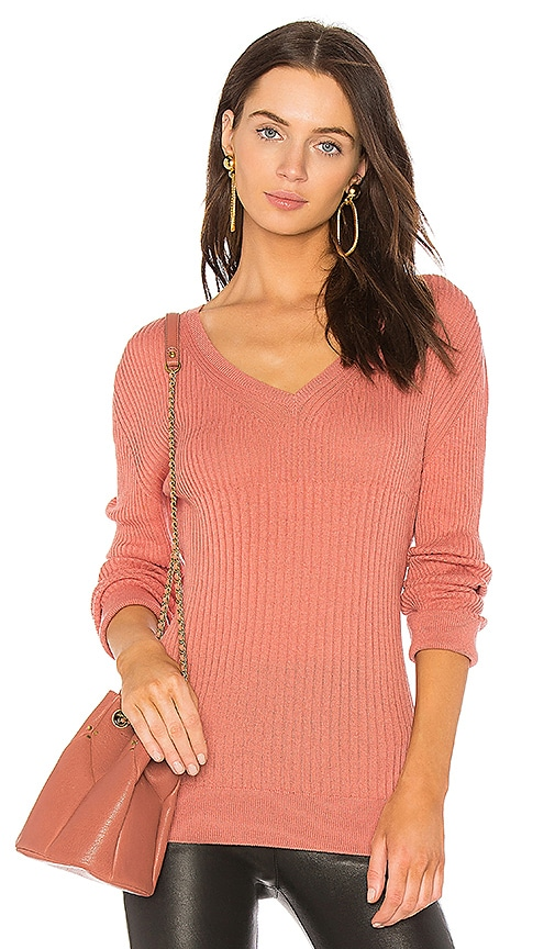 HELFRICH Mimi V Neck Pullover in Pink