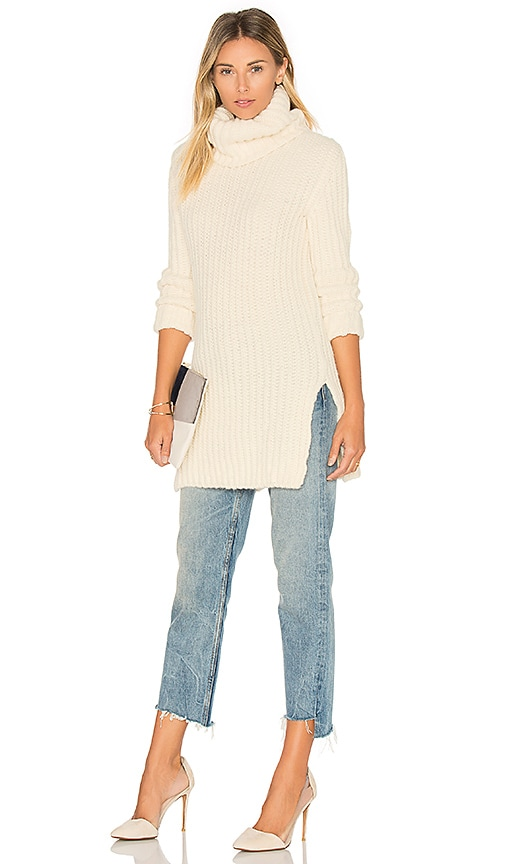 HELFRICH Heidi Turtleneck Sweater in Ivory
