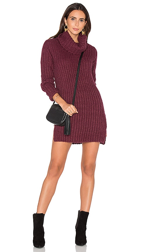 HELFRICH Heidi Turtleneck Sweater in Burgundy