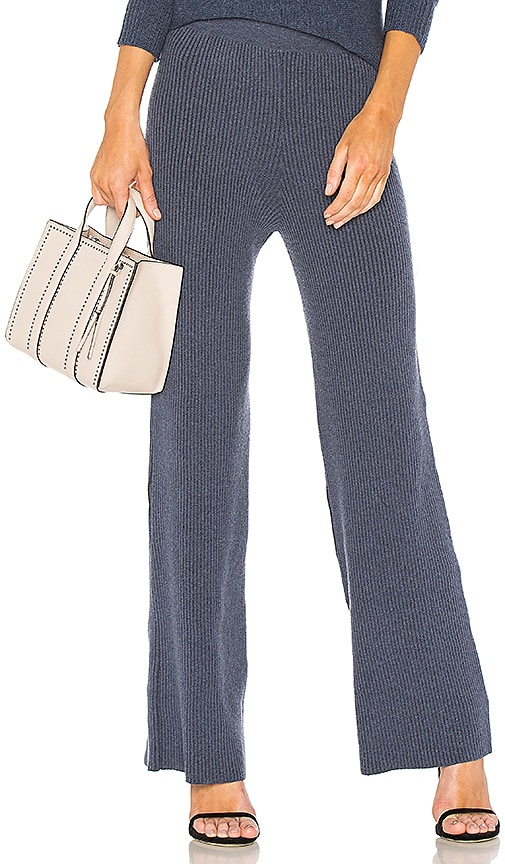 HELFRICH Whit Ribbed Pant in Blue