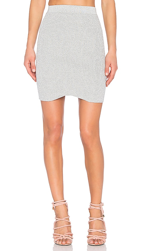 HELFRICH Kiki Lurex Skirt in Gray