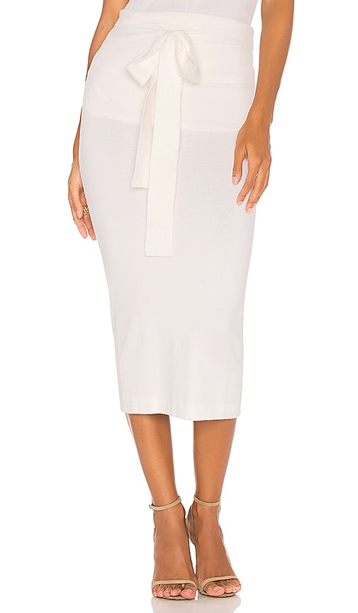HELFRICH Sage Pencil Skirt in Ivory