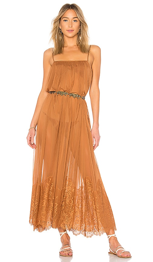 Hot As Hell Mad Maxi Dress in Brown