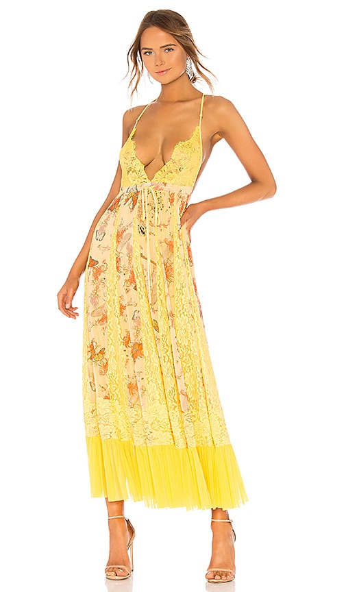 Hot As Hell Ill Take U Farrer Dress in Yellow