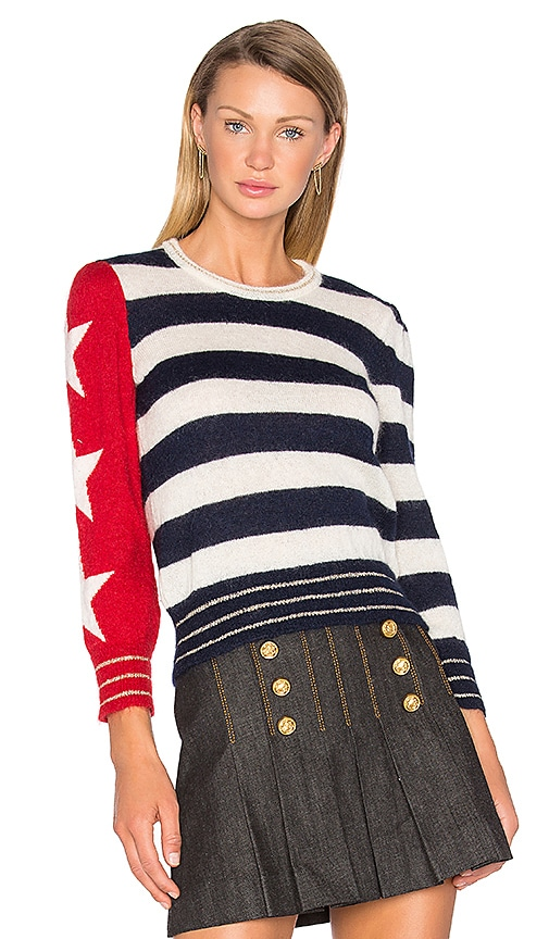 Hilfiger Collection American Icon Long Sleeve Sweater in Navy