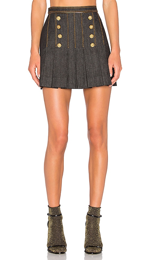 Hilfiger Collection Marine Mini Skirt in Jet Black