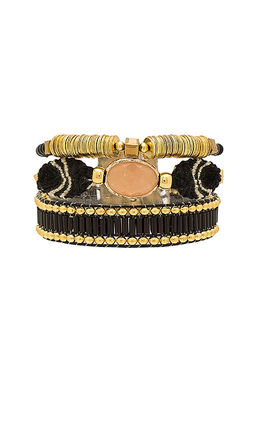 HiPANEMA Mini Lana Bracelet in Metallic Gold
