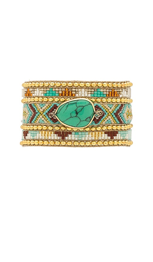 HiPANEMA Jaya Twin Bracelet in Metallic Gold
