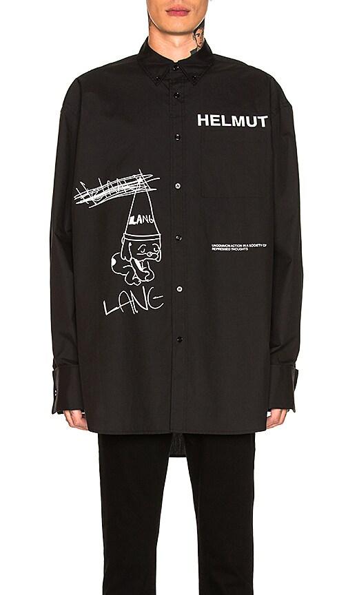 30754e2a0f7bd Helmut Lang Index Shirt in Black   White