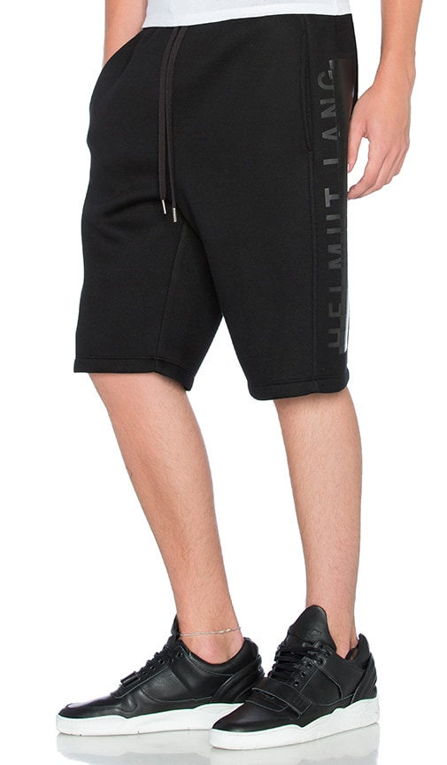 Helmut Lang Logo Track Short in Black
