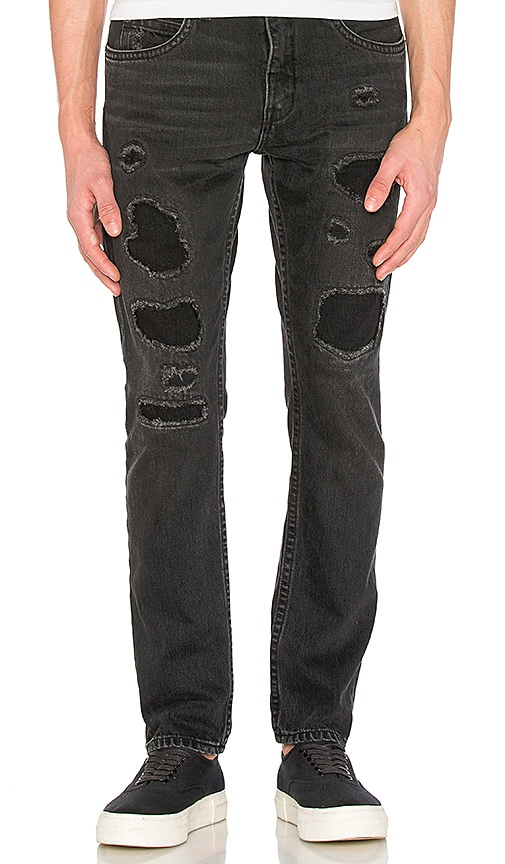 Helmut Lang MR 87 Destroy Jeans in Black