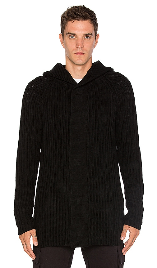 Helmut Lang Hooded Sweater in Black