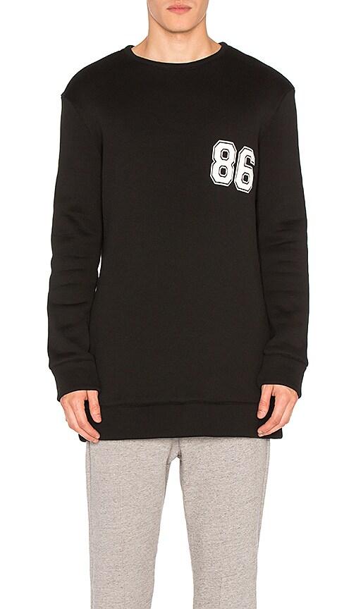 Helmut Lang Oversized Varsity Sweatshirt in Black & White