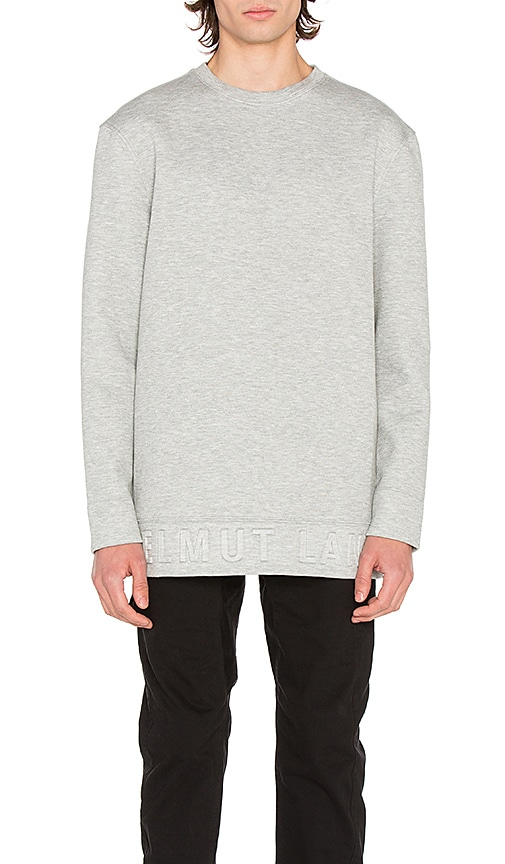 Helmut Lang Box Fit 3D L/S Pullover in Gray