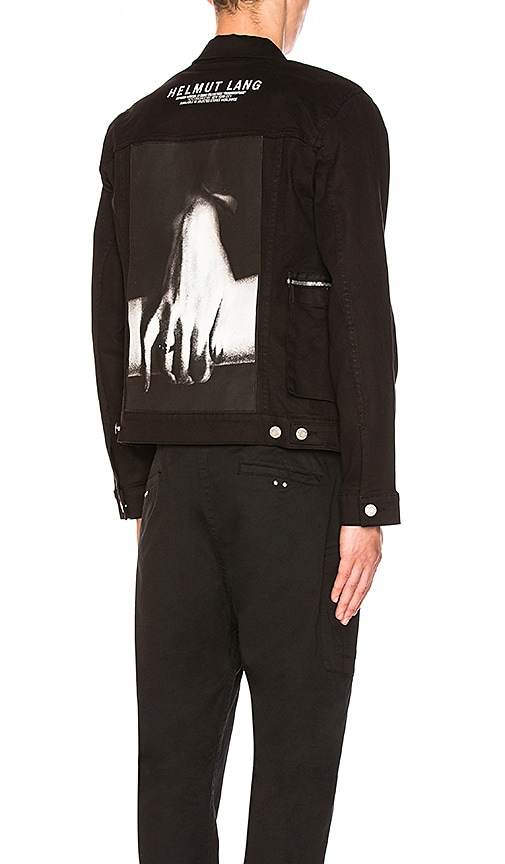 Helmut Lang Hand Zip Denim Jacket in Black