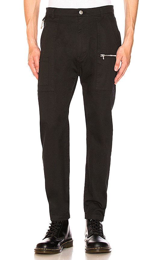 Helmut Lang Carabiner Trouser in Black