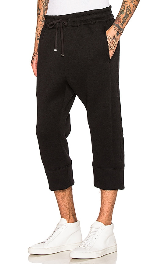 Helmut Lang 3D Logo Crop Jogger in Black