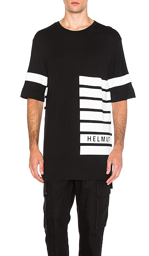 Helmut Lang Oversized Tee in Black & White