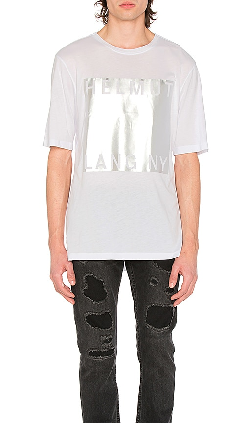 Helmut Lang Box Fit Film Print Tee in White