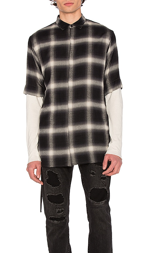 Helmut Lang Drawcord S/S Shirt in Black