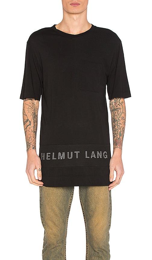 Helmut Lang Mesh Combo Tee in Black