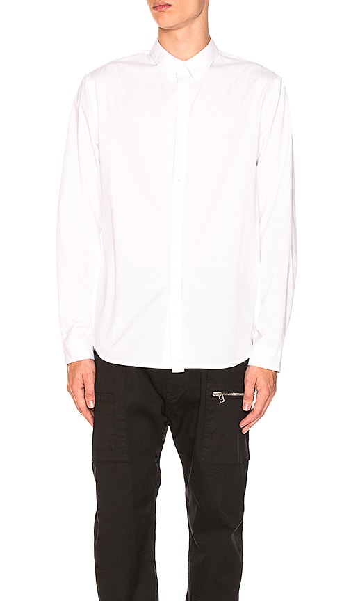Helmut Lang Detached Long Sleeve Shirt in White