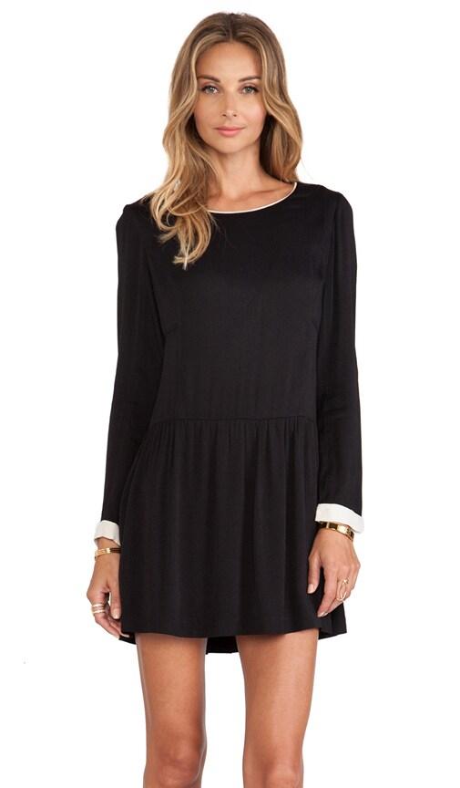 harlyn The Etienne Mini Dress in Black