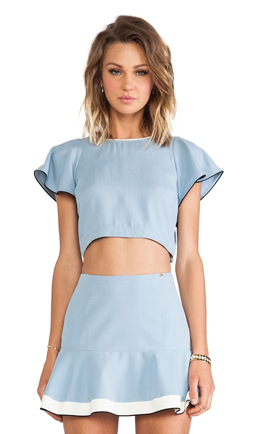 Piped Crop Top