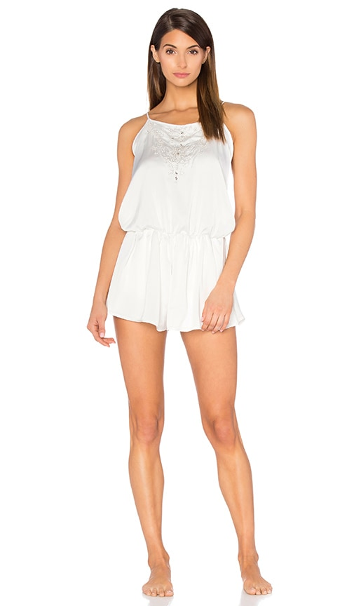 dee08cfd8e8 homebodii Chloe Beaded Playsuit in Ivory