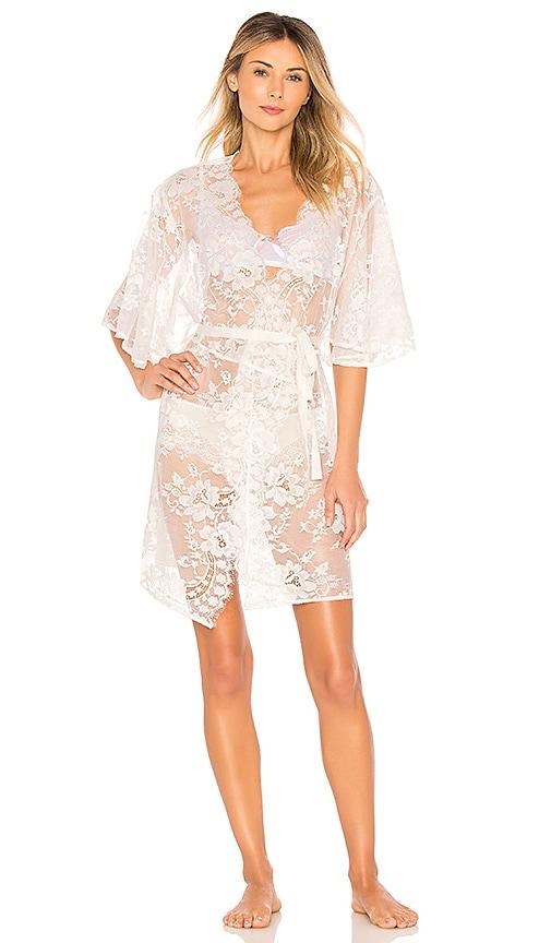 HOMEBODII Kassiah Short Lace Wrap in White