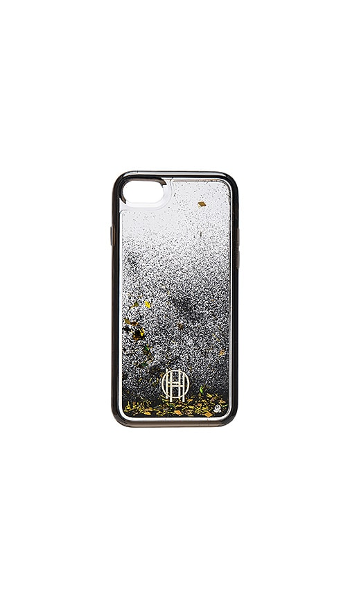 check out 7e50f 6dca1 House of Harlow 1960 Liquid Glitter iPhone 7 Case in Clear, Black ...