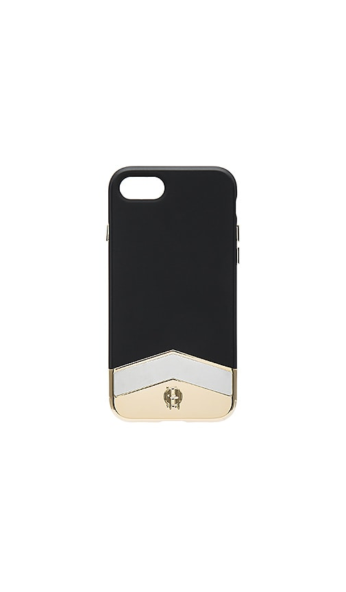 House of Harlow 1960 Slider Marble Inlay iPhone 7 Case in Black