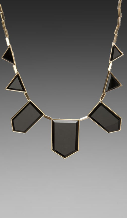 House of Harlow Black Resin Necklace