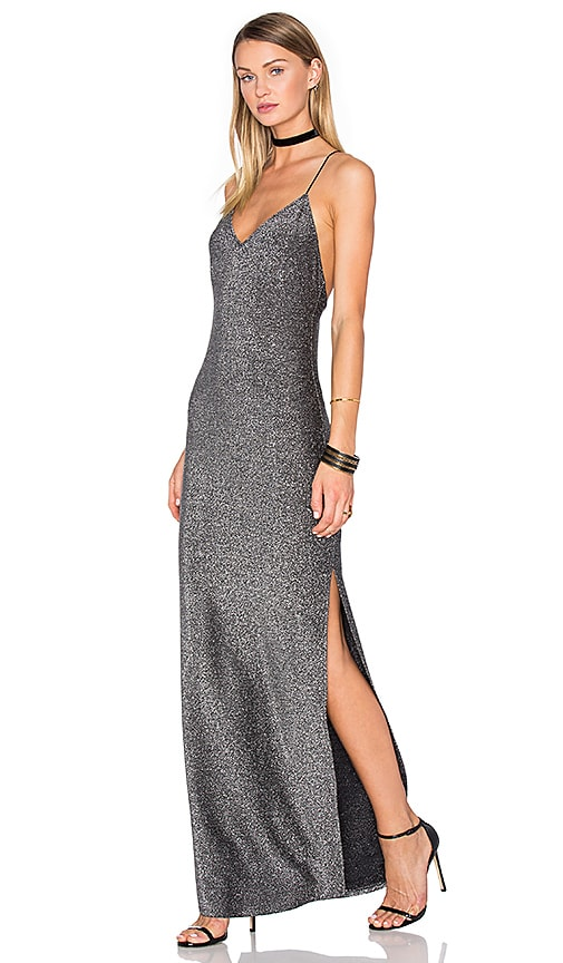 House of Harlow 1960 x REVOLVE Rae Cross Back Dress in Metallic Silver