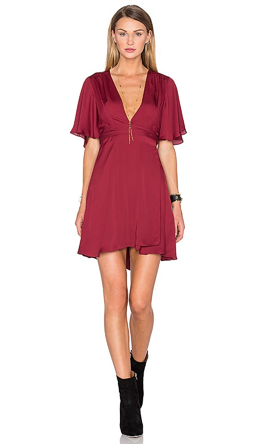 House of Harlow 1960 x REVOLVE Harper Wrap Dress in Burgundy