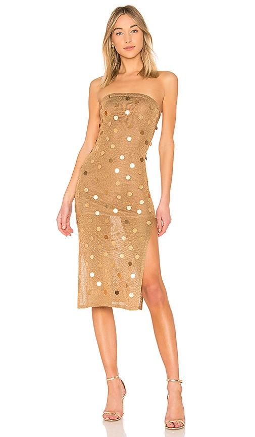 House of Harlow 1960 x REVOLVE Danielle Dress in Metallic Gold