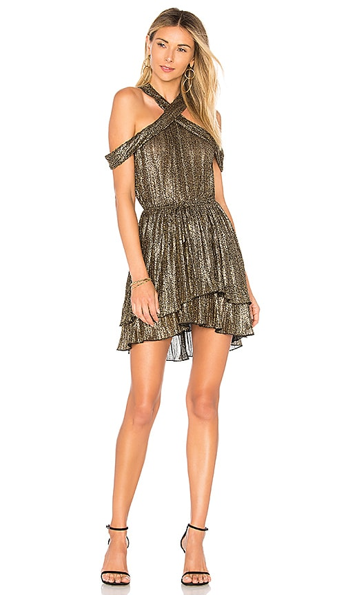 House of Harlow 1960 x REVOLVE Everly Dress in Metallic Gold