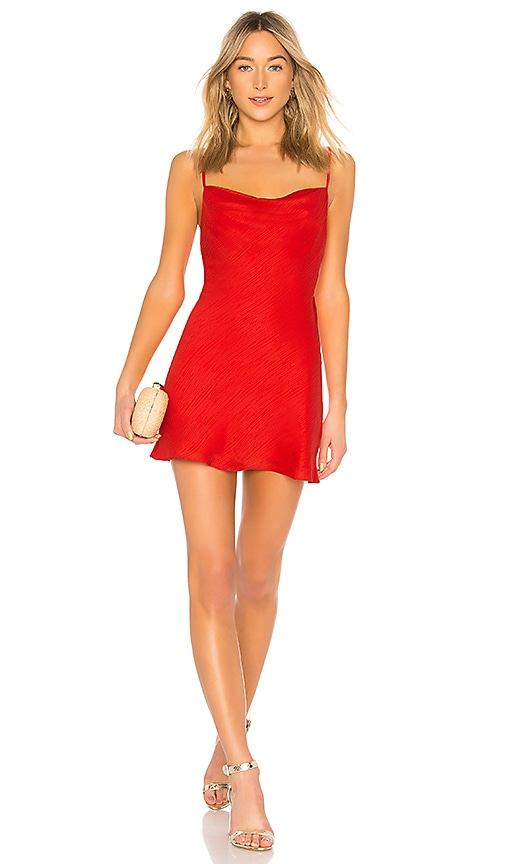 X Revolve Ira Mini Dress In Crimson Red by House Of Harlow 1960