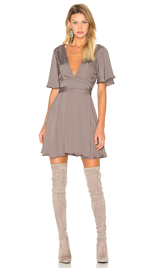 House of Harlow 1960 x REVOLVE Harper Wrap Dress in Gray