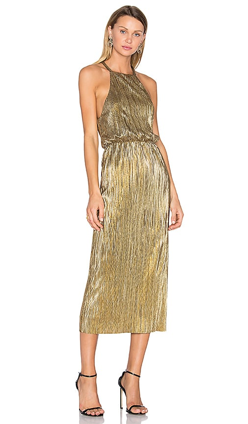 x REVOLVE Everly Dress in Metallic Gold. - size M (also in L,S,XL,XXS) House Of Harlow
