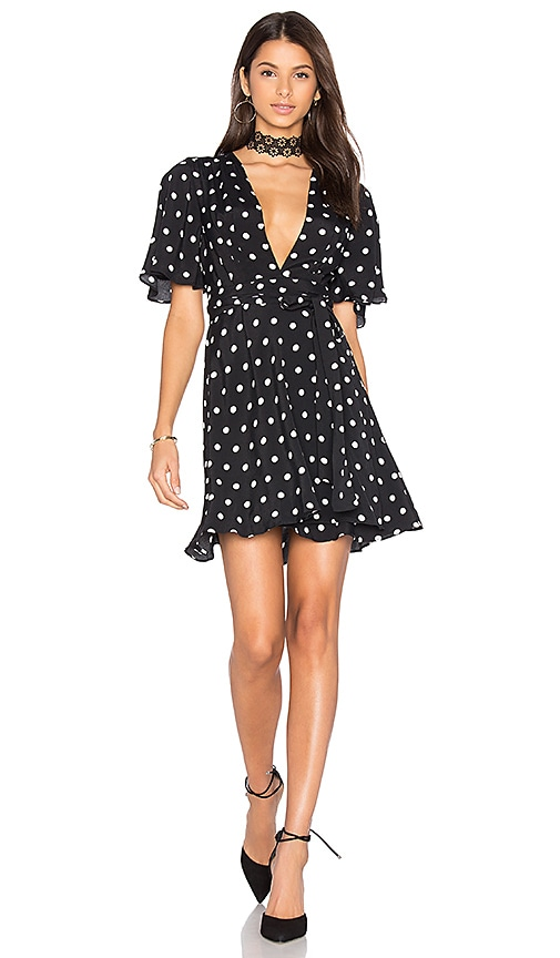 House of Harlow 1960 x REVOLVE Harper Wrap Dress in Black