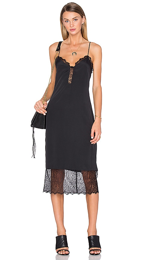 House of Harlow 1960 x REVOLVE Emma Lace Hem Slip Dress in Black