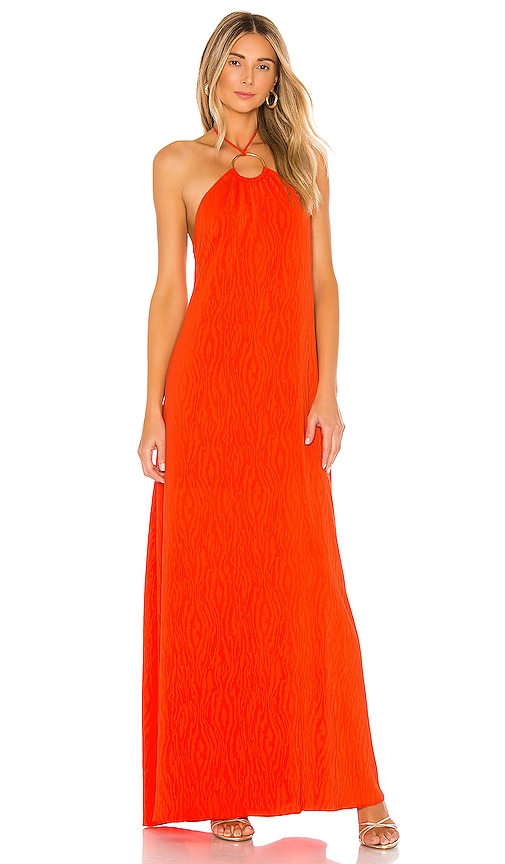 House Of Harlow 1960 X Revolve Brienne Maxi Dress In Bright Red Orange Revolve Join us today through 12/19 for new promos, giveaways, prizes + more! x revolve brienne maxi dress