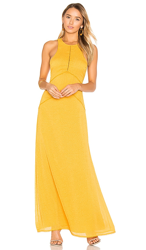 x REVOLVE Zoe Halter Maxi in Yellow. - size M (also in L,S,XL,XS) House Of Harlow