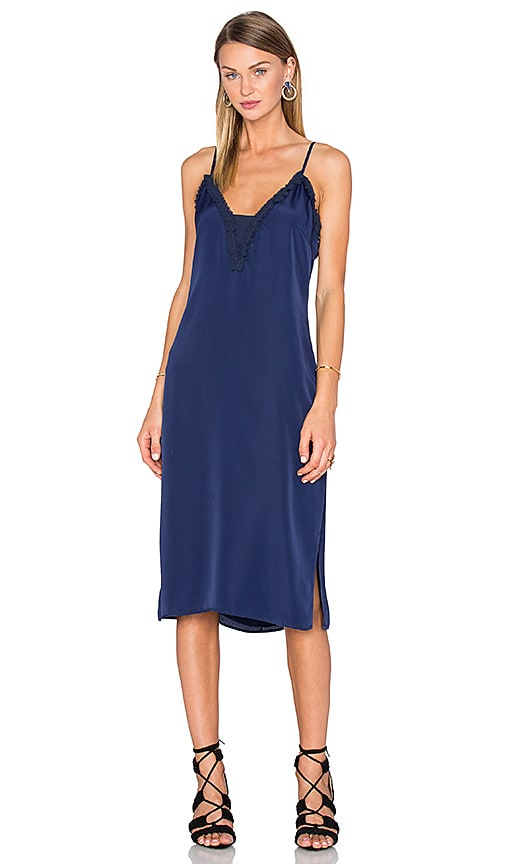 House of Harlow 1960 x REVOLVE Stella Deep V Slip Dress in Navy