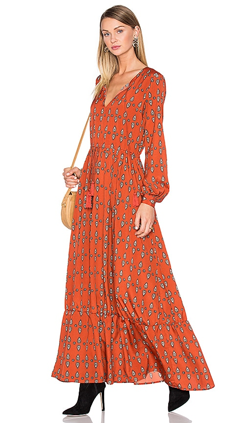 House of Harlow 1960 x REVOLVE Janella Maxi Dress in Rust