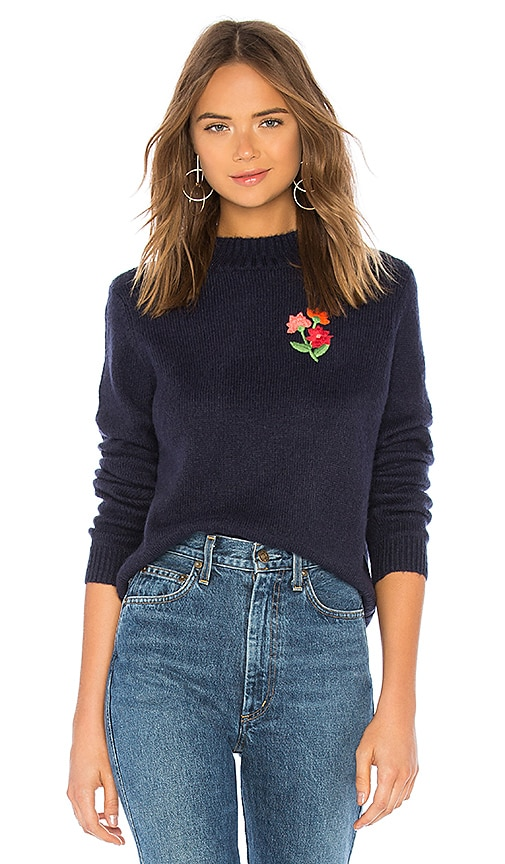 FLORAL EMBROIDERED SWEATER 스웨터