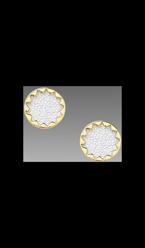 House of Harlow White Sand Sunburst Studs