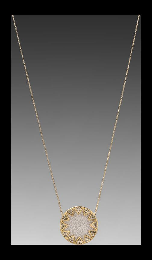House of Harlow White Sand Sunburst Station Necklace