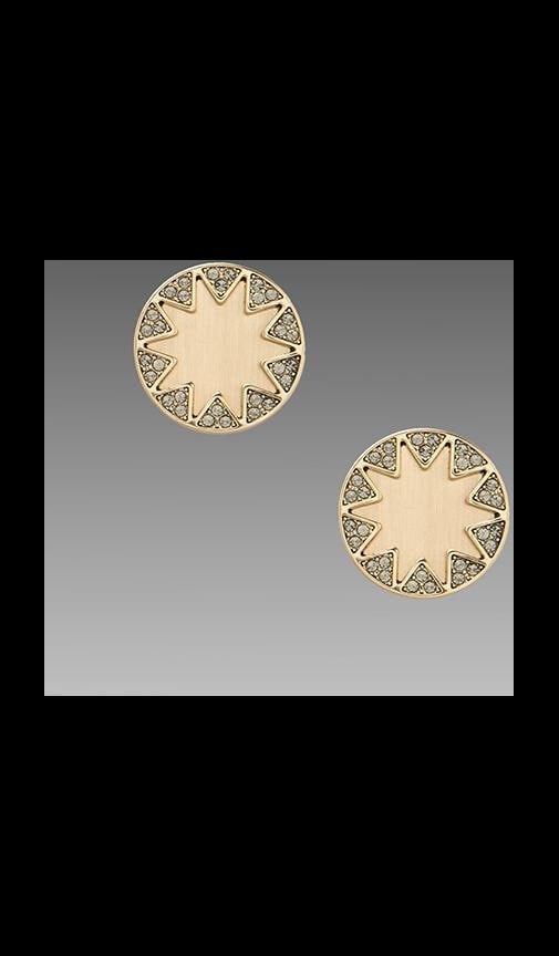 House of Harlow Earth Metal Sunburst Earrings